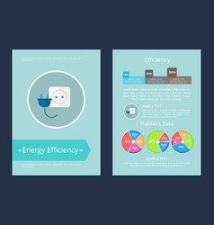 energy efficiency statistics data text sample card vector image