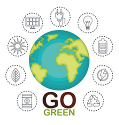 Environmental and ecology set icons vector