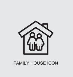 Family house icon vector