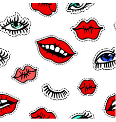 female beauty and trends in cosmetics eyes and vector image