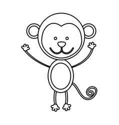 figure teddy monkey icon vector image