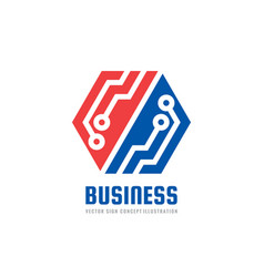 finance business - logo template concept vector image