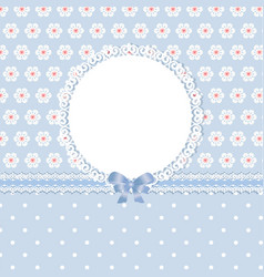 Floral romantic blue background vector