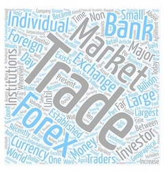 Forex For The Future text background wordcloud vector image