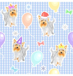 Funny dogs wallpaper vector