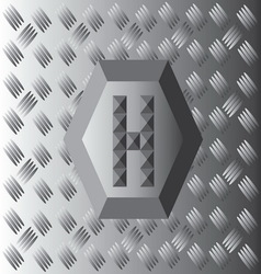 H text aluminium wallpaper vector