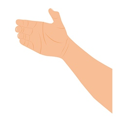 Hand holding over white background vector