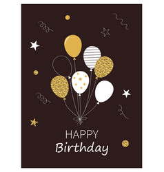 Happy birthday card template eps 10 format vector