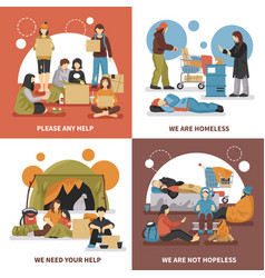 homeless people design concept vector image