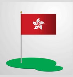 Hongkong flag pole vector