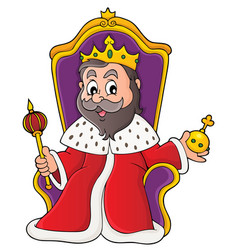 King on throne theme image 1 vector