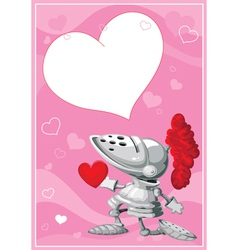 knight valentines card vector image vector image