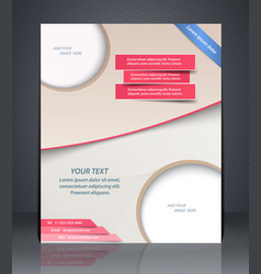 Layout shop or salon flyer magazine cover or vector