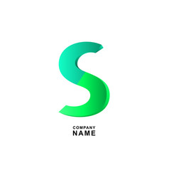 letter s logo emblem or banner for business vector image