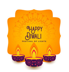 Lovely happy diwali festival background creative vector