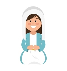 mary vigin manger character vector image