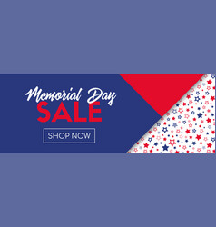 Memorial day sale banner template vector