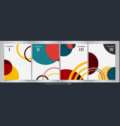 modern of colorful brochure set wih 4 units vector image