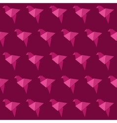 Origami bird seamless pattern vector