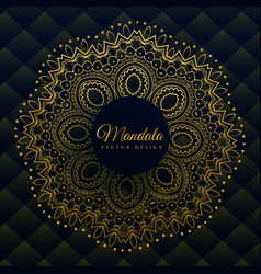 premium mandala decoration in golden ethnic style vector image
