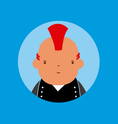 punk man avatar vector image