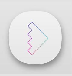 Rightward arrowhead app icon forward triangular vector