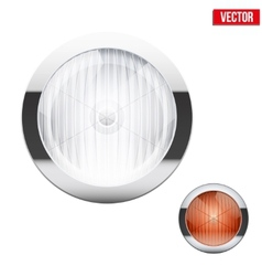 Round car headlight and turn indicator Vintage vector image