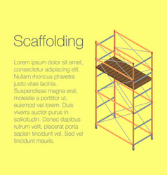 scaffolding concept background isometric style vector image
