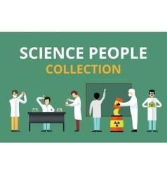Science laboratory radiation biology people vector image