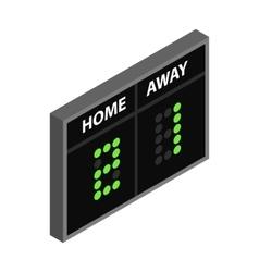 Scoreboard isometric 3d icon vector image