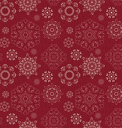 seamless vintage pattern from snowflakes vector image