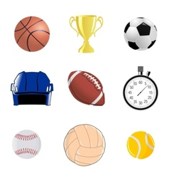 Set of sportive objects vector
