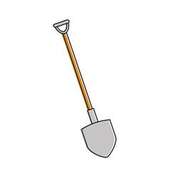 Shovel construction isolated icon vector