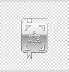 silver jewish torah book isolated object vector image