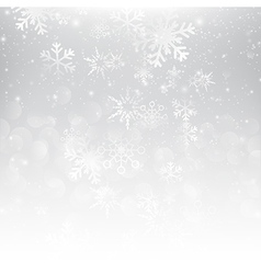 Snow fall with bokeh abstract grey background vector image