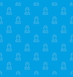 soldier pattern seamless blue vector image