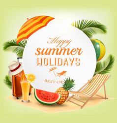 summer vacation concept background vector image