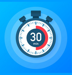 The 30 minutes stopwatch icon stopwatch icon in vector
