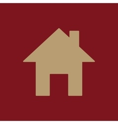 The home icon House symbol Flat vector