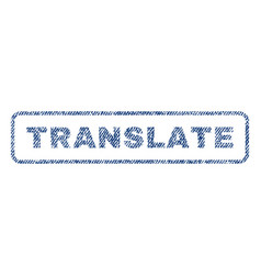 Translate textile stamp vector