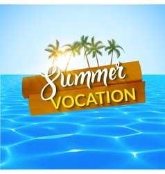 Travel summer island vocation Island Beach with vector image