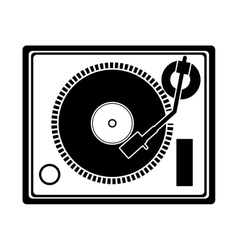 Turntable music device vector