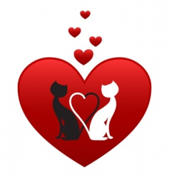 valentines cats vector image