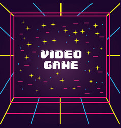 Video game screen 3d view visual electronic vector