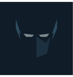 Villainous mask into flat style graphical vector