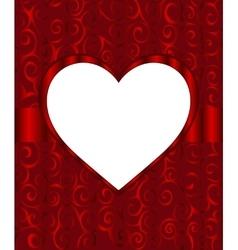 Vintage frame heart background invitation ornament vector