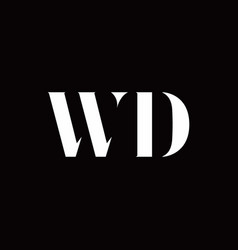 wd logo letter initial logo designs template vector image