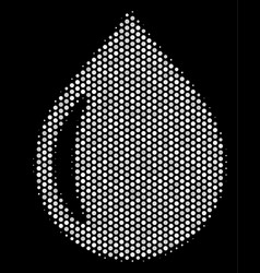White dot drop icon vector