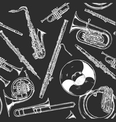 woodwind and brass musical instrument vector image