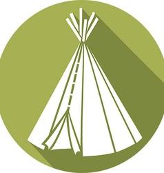 American indian wigwam icon vector